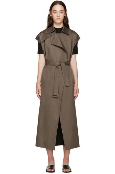 Helmut Lang - Khaki Cotton Trench Coat