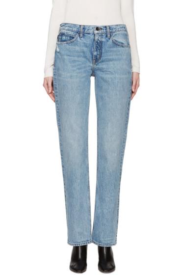 Helmut Lang - Blue Worn Boyfriend Jeans