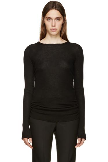 Helmut Lang - Black Ribbed Cashmere Pullover