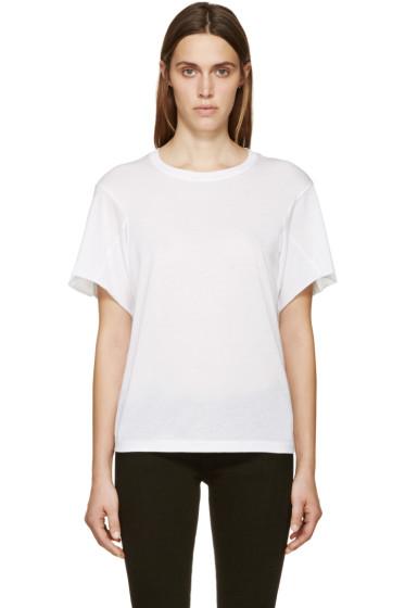 Helmut Lang - White Jersey T-Shirt