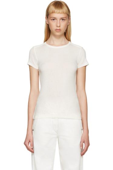 Helmut Lang - Ivory Cotton & Cashmere T-Shirt