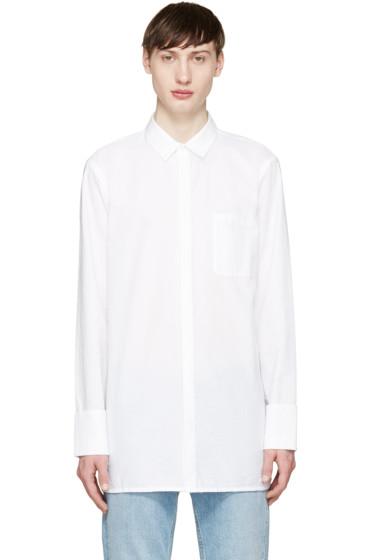 Helmut Lang - White Folded Cuff Shirt