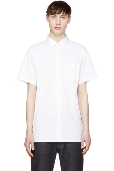Helmut Lang - White Pocket Tab Shirt