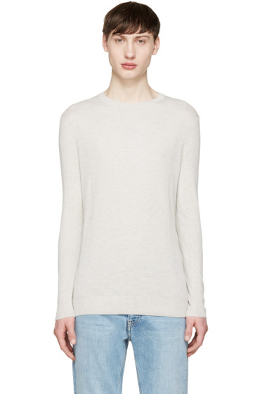 Helmut Lang - Grey Textured Cashmere T-Shirt