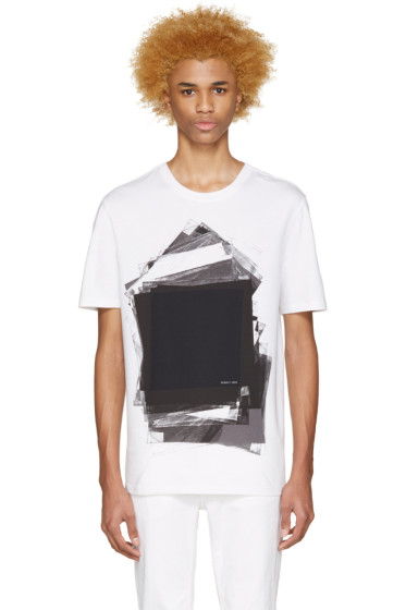 Helmut Lang - White & Black Transparency T-Shirt