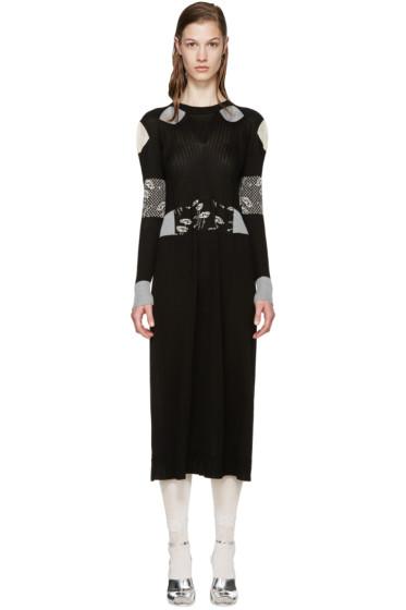 Maison Martin Margiela - Black Silk Jacquard Knit Dress