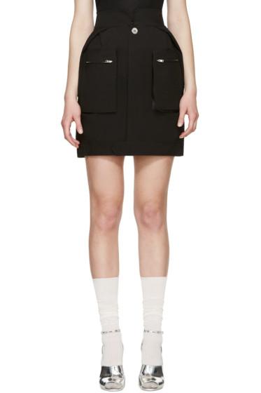 Maison Margiela - Black Poplin Pocket Skirt