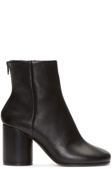 Maison Martin Margiela - Black Leather Sock Boots
