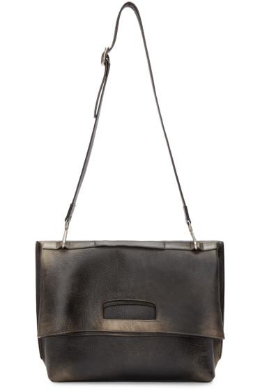 Maison Martin Margiela - Black Aged Leather Bag