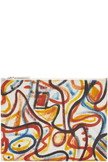 Maison Margiela - Multicolor Leather Graffiti Pouch