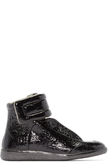 Maison Martin Margiela - Black Foil Future High-Top Sneakers