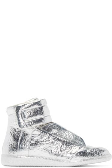 Maison Martin Margiela - Silver Foil Future High-Top Sneakers