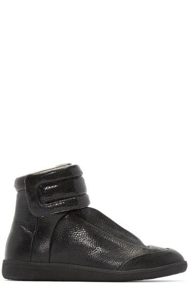 Maison Martin Margiela - Black Embossed Future High-Top Sneakers