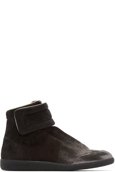 Maison Martin Margiela - Black Gradient Future High-Top Sneakers