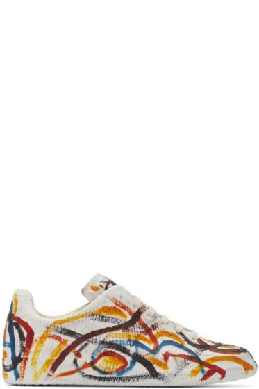 Maison Martin Margiela - Multicolor Chalk Replica Sneakers