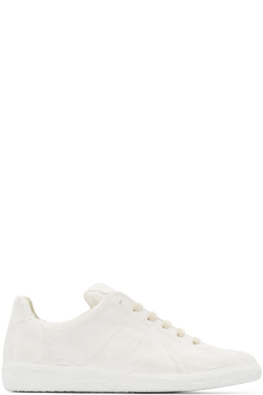 Maison Martin Margiela - White Chalk Effect Replica Sneakers