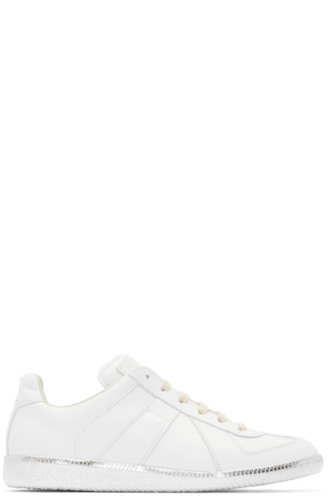 Maison Martin Margiela - White Leather Replica Sneakers