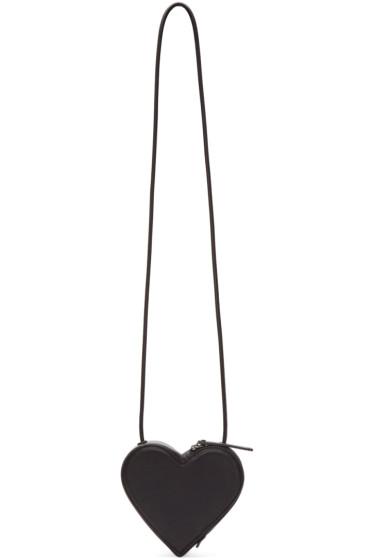 Christopher Kane - Black Heart-Shaped Shoulder Bag