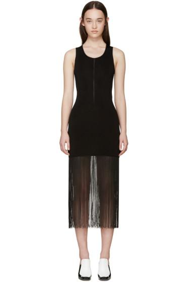 Christopher Kane - Black Ribbed Fringe Dress