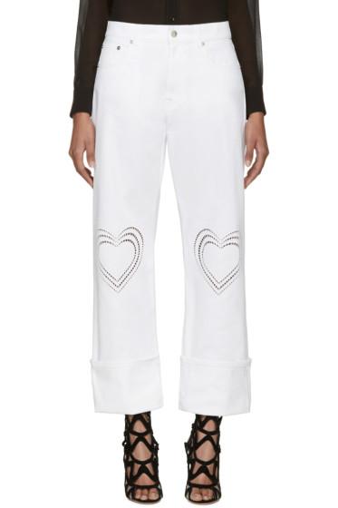 Christopher Kane - White Heart Boyfriend Jeans