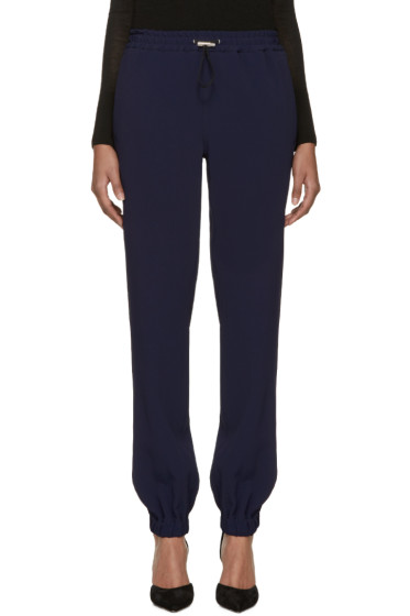 Christopher Kane - Navy Drawstring Trousers