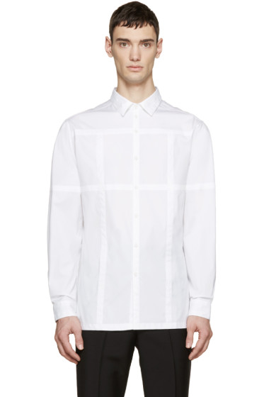 Christopher Kane - White Grid Channel Shirt