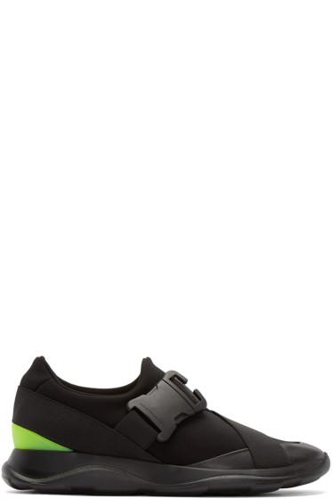 Christopher Kane - Black Buckle Low-Top Sneakers