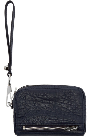 Alexander Wang - Navy Leather Large Fumo Wallet