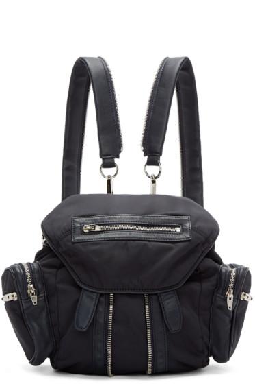 Alexander Wang - Navy Nylon & Leather Mini Marti Backpack