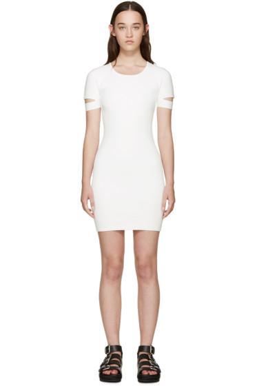 Alexander Wang - White Rib Knit Dress