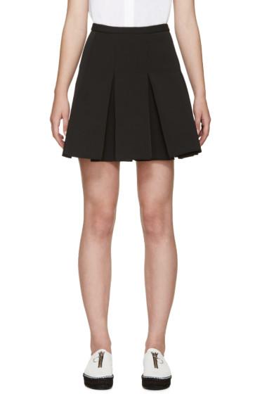 Alexander Wang - Black Pleated Miniskirt