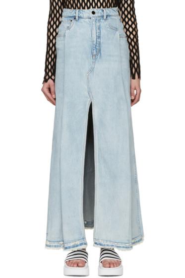 Alexander Wang - Blue Denim Deconstructed Skirt