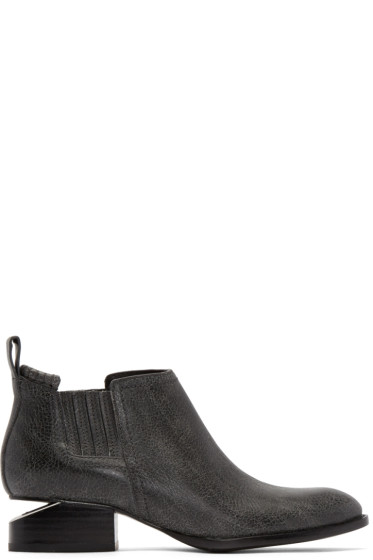 Alexander Wang - Black Aged Leather Kori Boots