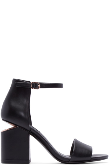 Alexander Wang - Black Leather Abby Sandals
