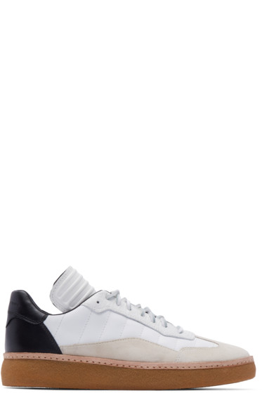 Alexander Wang - White & Black Leather Eden Sneakers