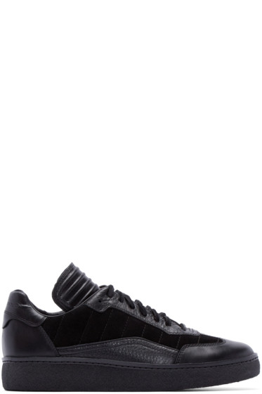 Alexander Wang - Black Leather & Suede Eden Sneakers