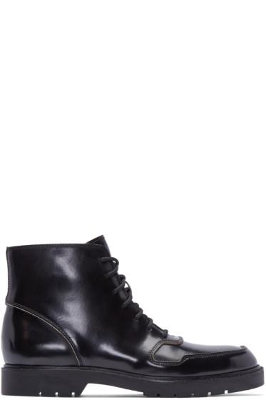 Alexander Wang - Black Leather Burnished Kaleb Boots