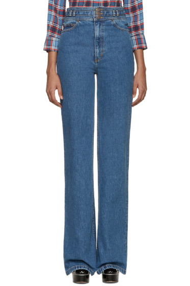 Marc Jacobs - Blue Star Wide-Leg Jeans
