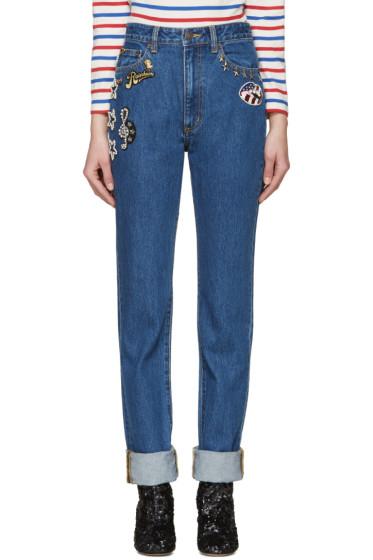 Marc Jacobs - Blue Embellished Jeans