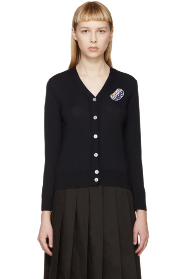 Marc Jacobs - Navy Embroidered Cardigan