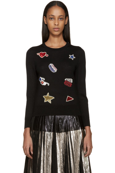 Marc Jacobs - Black Wool Embellished Sweater