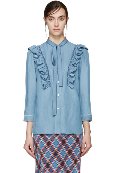 Marc Jacobs - Blue Ruffled Slimmer Shirt
