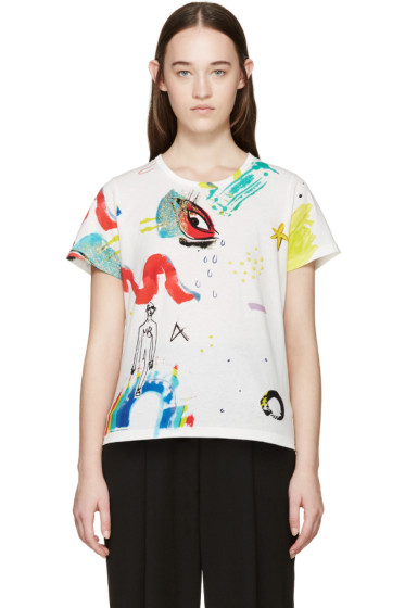 Marc Jacobs - White Collage Print T-Shirt