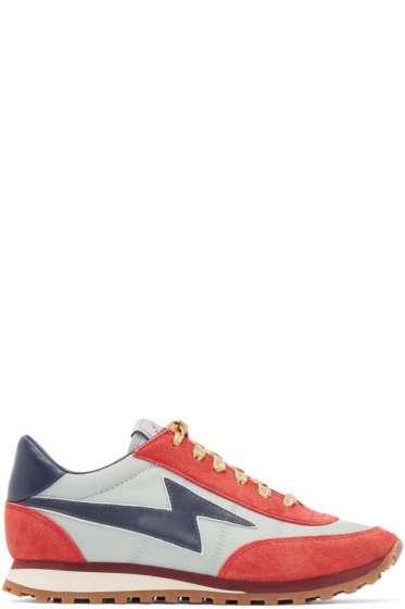 Marc Jacobs - Blue & Red Astor Lightning Bolt Sneakers