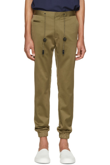 Marc Jacobs - Green Cotton Drawstring Trousers