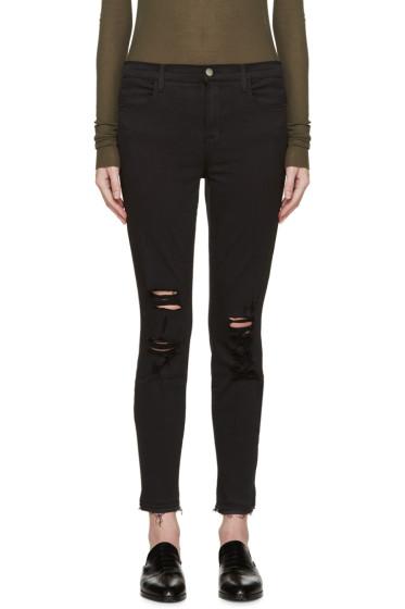 J Brand - Black Distressed Alana Jeans