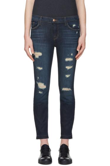 J Brand - Indigo 9326 Cropped Skinny Jeans