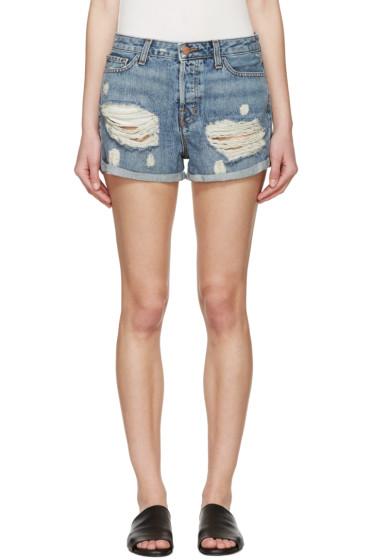 J Brand - Blue Distressed Shorts