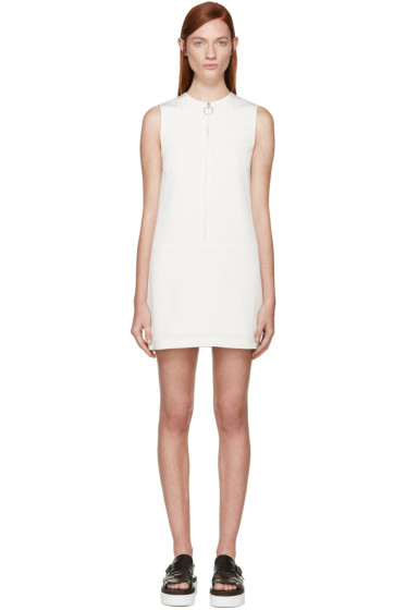 T by Alexander Wang - Ivory Faille Shift Dress