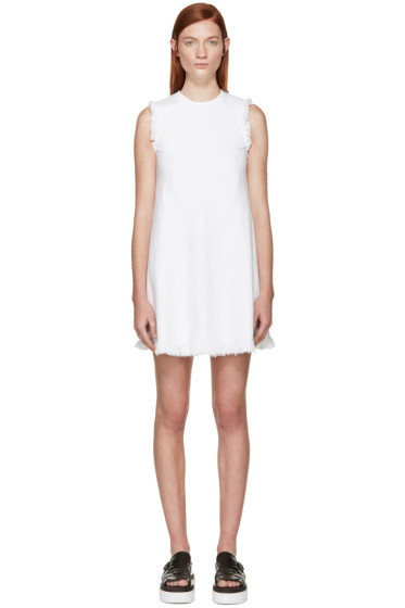 T by Alexander Wang - White Frayed Burlap Dress